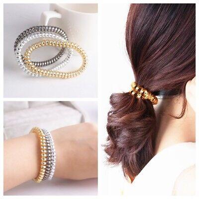 20PCS Rubber Telephone Wire Hair Ties Spiral Slinky Hair Head Elastic Bands - Slinky Hair Ties