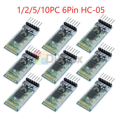 2510pcs Hc-05 6pin Wireless Bluetooth Rf Transceiver Module Serial For Arduino