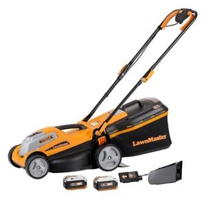Battery-operated lawn mower