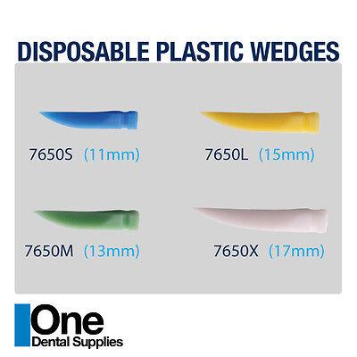 Dental Disposable Wedges Plastic 400 Pcs Assorted