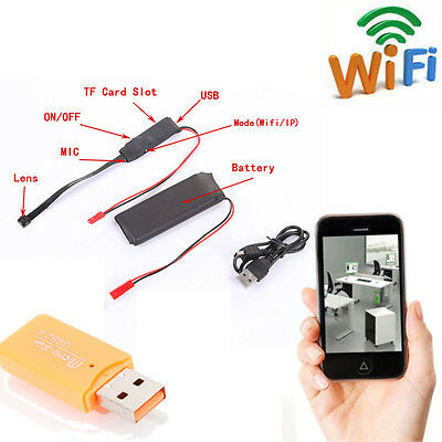 Wireless WiFi Hidden SPY Camera Module Video DVR DV Record DIY F Android IPhone