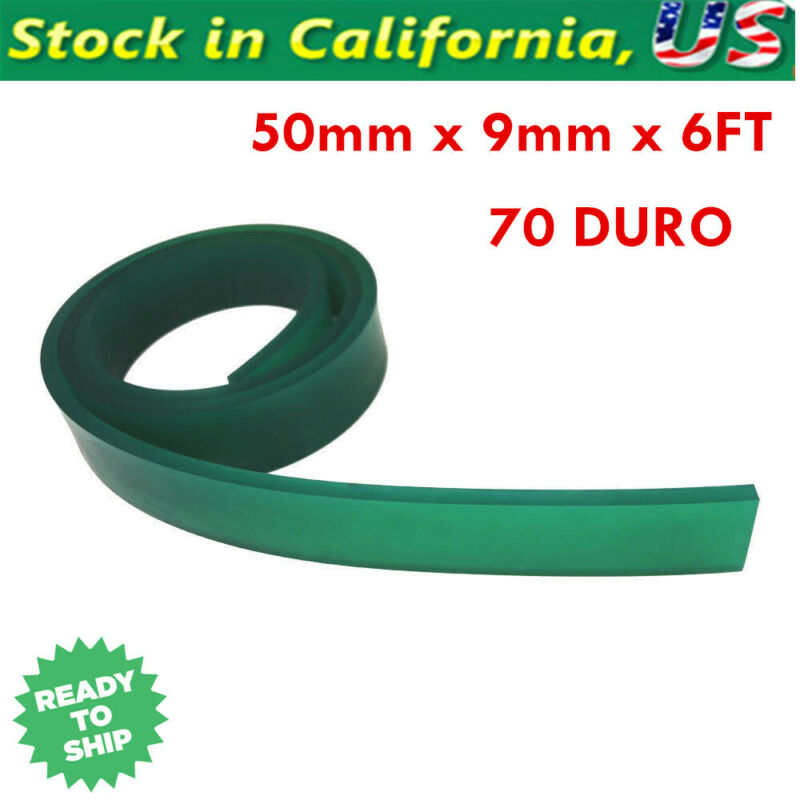 """70 Duro Durometer Silk Screen Printing Squeegee Rubber Blade Roll 72"""" / 6 FT"""