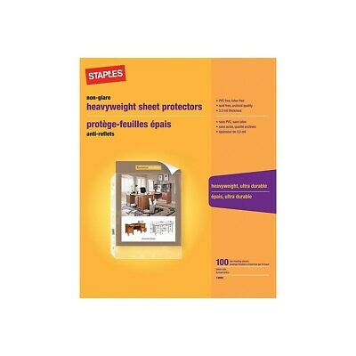 Staples Heavy Weight Sheet Protectors 8.5