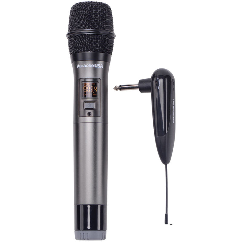 Karaoke USA Professional 900 MHz UHF Wireless Microphone - Black