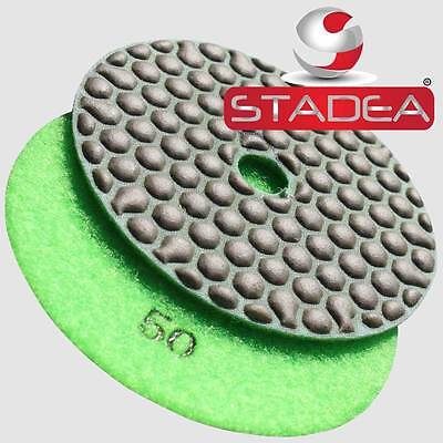 4 Diamond Polishing Pad Dry Grit 50 For Variable Speed Grinder Polisher Granite