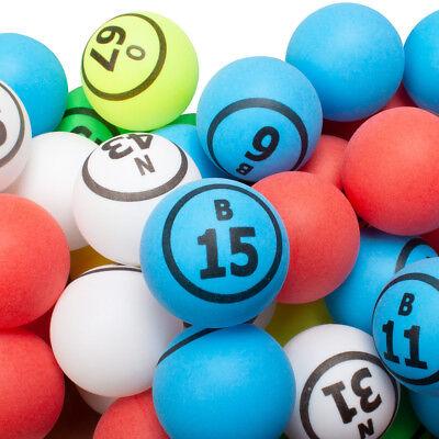 Bingo Set (1.5-Inch Pro Ping Pong Size Replacement Bingo Ball Set(5 Colors - Single)