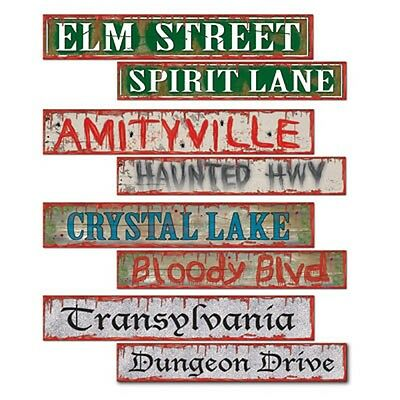 Halloween Decorations Party Pack (Pack of 4 Double sided Halloween Street signs - 10 x 61 cm - Party)