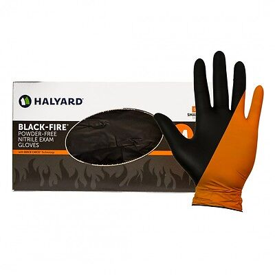 Halyard Black Fire Nitrile Reversible 150 Per Box Ems Size Small Fs