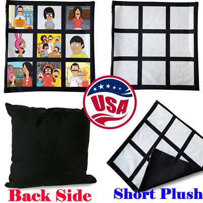 10pcs 40x40cm Sublimation Pillow Covers Pillow Case Short Plush For Heat Press