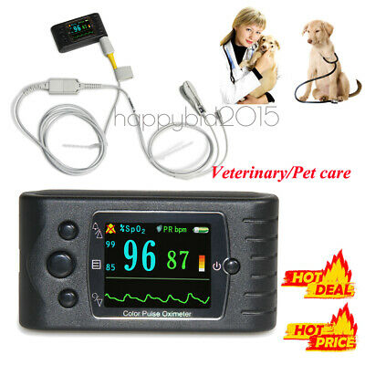 1.77 Color Veterinary Pulse Oximeter Spo2 Pr Monitoralarmsoftwarebattery