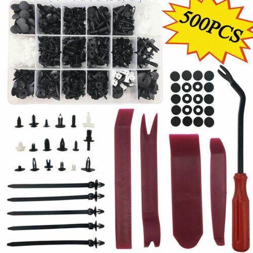 Car Parts - 500 x Plastic Car Push Pin Rivet Trim Clips Panel Fasteners Interior Assortments