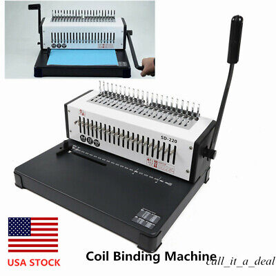 21 Hole Manual Table Calendar Spiral Coil Punching Binding Machine A4 W Handle