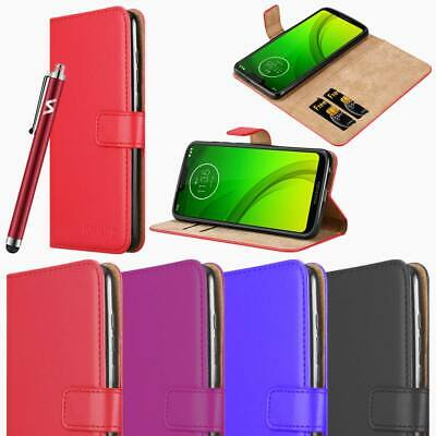 For Motorola Moto G7 Plus Power Phone case Luxury Leather Flip Wallet Card Cover