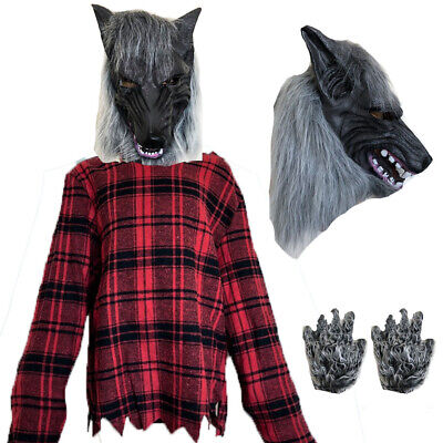 Scary Child Costumes (CHILDRENS KIDS BOYS SCARY WEREWOLF FANCY DRESS COSTUME HALLOWEEN ANIMAL)
