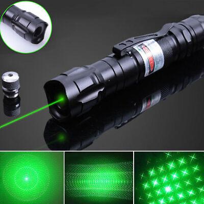 900Miles Strong Beam Light Green Laser Pointer 532nm Lazer Torch Lamp + Star Cap