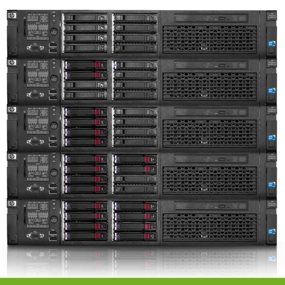 HP Proliant DL360 G7 Server 2x 2.26GHz E5520 8 Cores 24GB RAM P410 2x146GB HDD