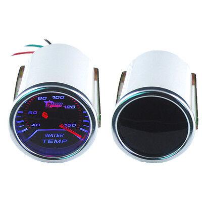 """Car Motor Universal Smoke Len 2"""" 52mm Indicator Water Temp Gauge Kit Meter"""