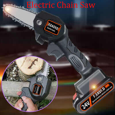 Cordless Electric Chain Saw Wood Cutter 550W Mini One-Hand Saw Woodworking UK