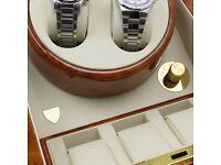 TimeTutelary Dual Classic Watch Winder No' S24BW - Free Shipping Throughout UK - 2 Watches Capacity
