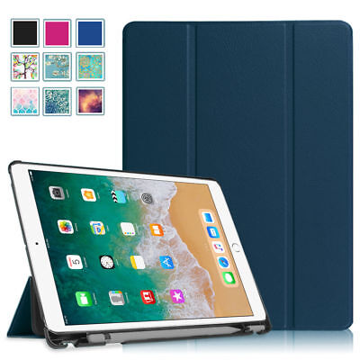 - For iPad Pro 10.5 inch 2017 Case Slim Shell with Apple Pencil Holder Wake/Sleep
