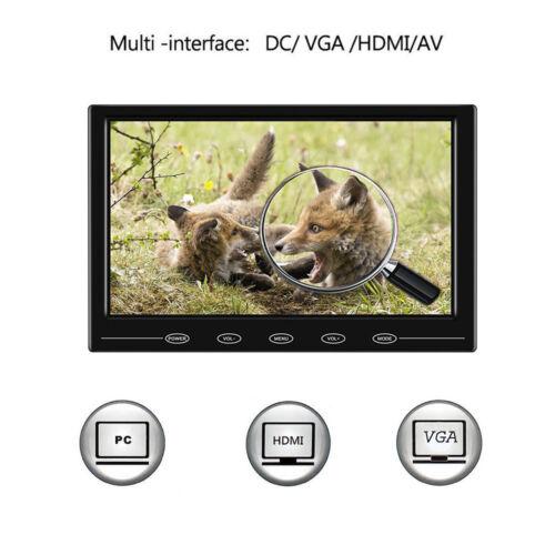 "9"" Ultra Thin LCD Monitor 800*480 Touch Button AV/VGA/HDMI for DSLR Raspberry"
