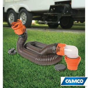 NEW CAMCO 15' RV SEWER HOSE KIT - 109495759 - W/ PRE-ATTACHED SWIVEL FITTINGS RHINOFLEX Waste Water  Sanitation › Sew...