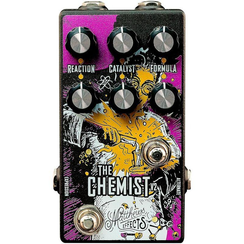 Matthews Effects Chemist V2 Octave, Chorus, Phaser Effects Pedal  LN