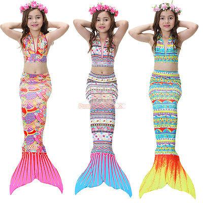 Mermaid Tail Swimmable Costume Swimsuit monofin for Women Kids Girls - Mermaid Costume For Teens