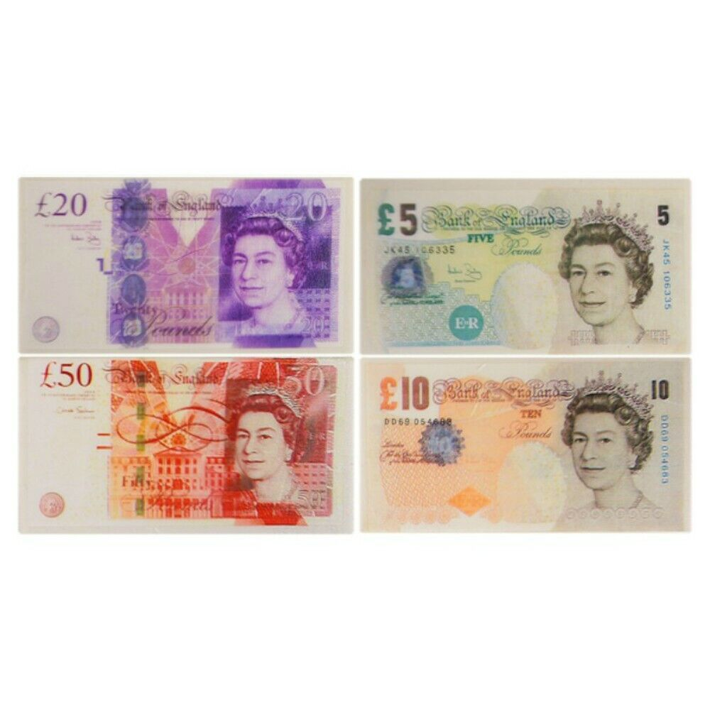 £5 £10 £20 £50-4 Money Note Erasers  Party Fillers 8 PackBack to School