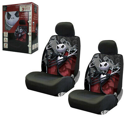 Nightmare Before Christmas Ghostly Car Truck 2 Front Seat Covers Headrest Covers ()