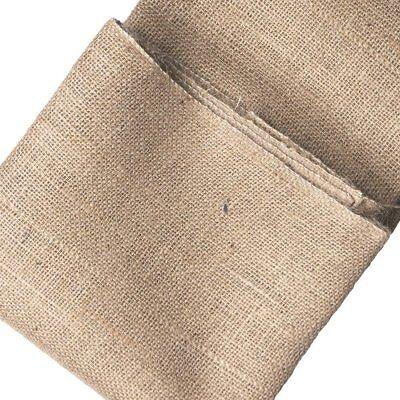 30m Jute-Stoff Naturfaser Mittelgrob Rupfen Sack-Leinen Deko-Stoff als Rolle