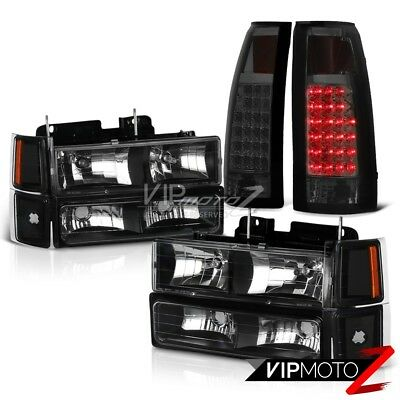 94-98 Chevy C10 C/K Suburban 1500 2500 Smoke Tint LED Taillamps Headlamps Side