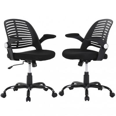 Ergonomic Office Chair Executive Computer Desk Chair Mesh Chair Warms Set Of 2
