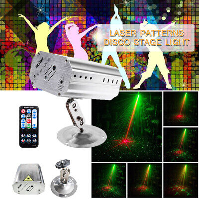 Pattern Mini LED Stage Lighting Laser Projector Disco Home Party Club DJ Light