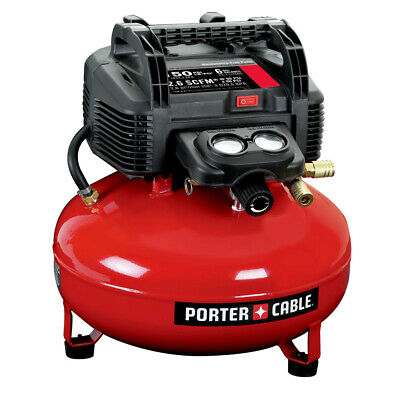 Porter-Cable 0.8 HP 6 Gallon Oil-Free Pancake Air Compressor C2002 New Hewlett Packard Oil