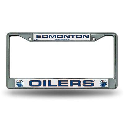 Edmonton Oilers Logo NHL Chrome Metal License Plate -