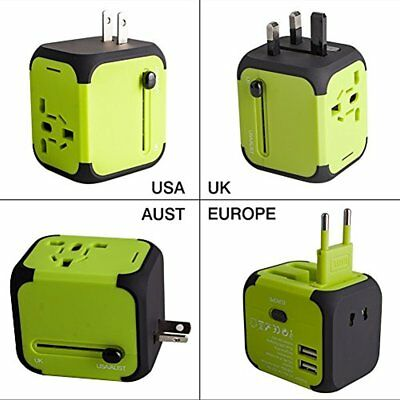 Travel Adapter Dual USB All-in-one Worldwide Chargers Adapters For EU UK AU 151