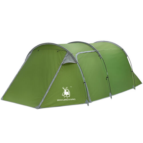 5 6 person family camping tunnel tent
