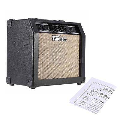 GT-15 3-Band EQ 15W Electric Guitar Amplifier Amp Distortion Professional