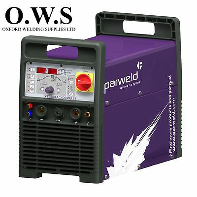 Parweld Xtt353p Acdc Pulsed Tig Inverter 230v Torchregtrolleywatercooler
