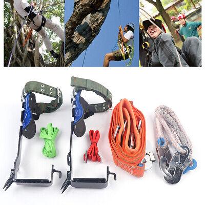 Tree Climbing Spike Set Safety Beltstraps Safety Lanyardcarabinerrope Durable