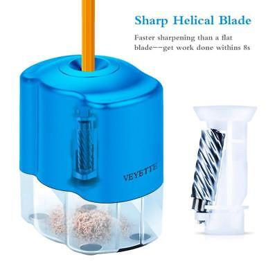 Pencil Sharpener Electric Or Battery With Helical Blade Home Office Auto-stop