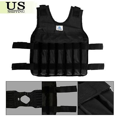 44LBS Adjustable Weight Weighted Vest Exercise Fitness Training Workout (Empty)