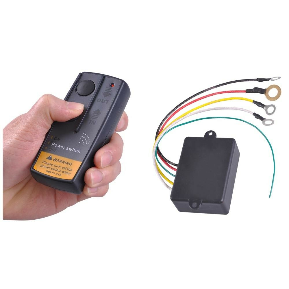 CARCHET Wireless Remote Control Winch Kit For Truck Jeep ATV Car 15M//50ft DC 12V