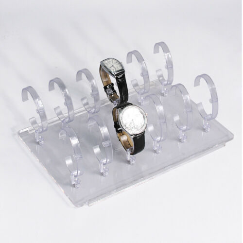 12 Watch Holder Stand Acrylic Display Stand Showcase Countertop Case for 12Watch