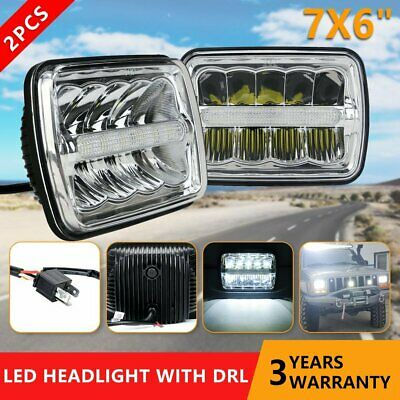 "Pair 7x6'' 5x7"" LED Headlights w/DRL For Chevy Express Cargo Van 1500 2500 3500"