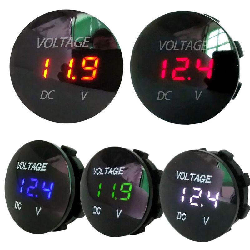 LED Display Socket Digital Motorcycle Battery Gauge Voltage