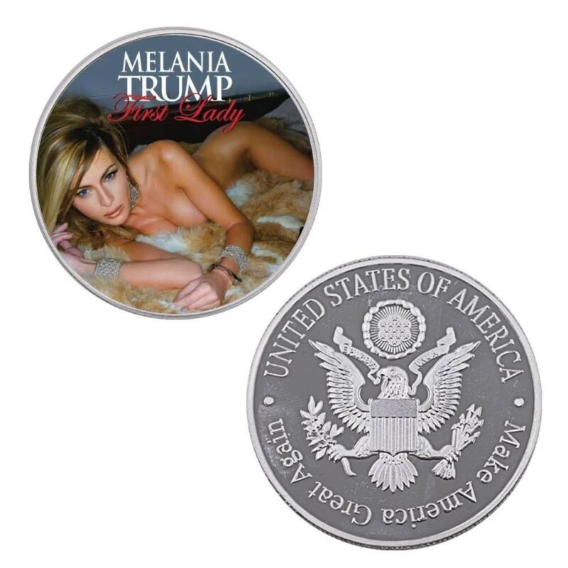 Holiday Souvenir Gifts Melania Trump Us First Lady Silver Coin for Collections