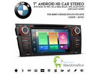 7 inch Android GPS Radio SatNav USB SD AUX Bluetooth Stereo For BMW 3 Series E90 E91 E92 E93
