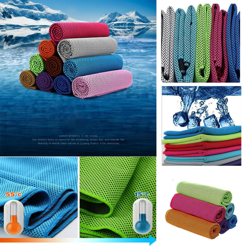 Microfiber Portable Fitness Accessories Gym Washcloth Ice To